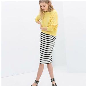 NWOT Zara Striped pencil skirt